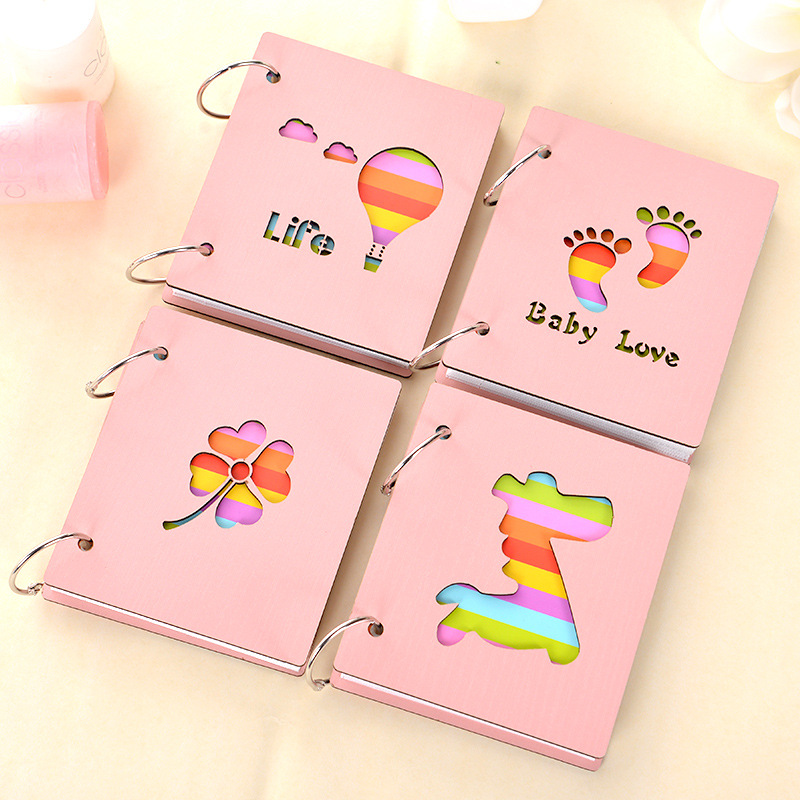 Newborns Growing Souvenirs Storage Photos Gift Baby Handprint Footprint Kit Paw Pad Wooden Collection Photo Frame Touch Ink Pad