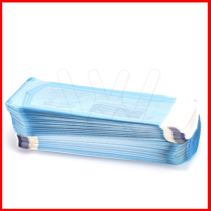 200PCS Dental Sterilization Ziplock Bags 90X260mm Disinfection Disinfection Sterilization Bags Self-styled Sterilized Bags