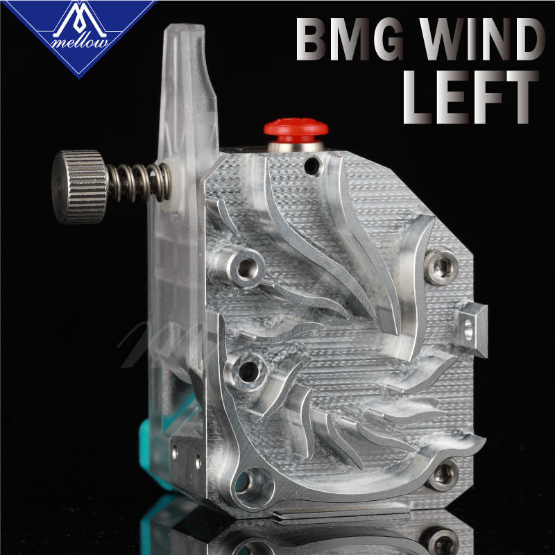 Mellow Left NF-BMG-WIND Bimetal V6 Dual Drive BMG Extruder For Ender 3 Reprap Mk8 I3 ANET  3D Printer Parts