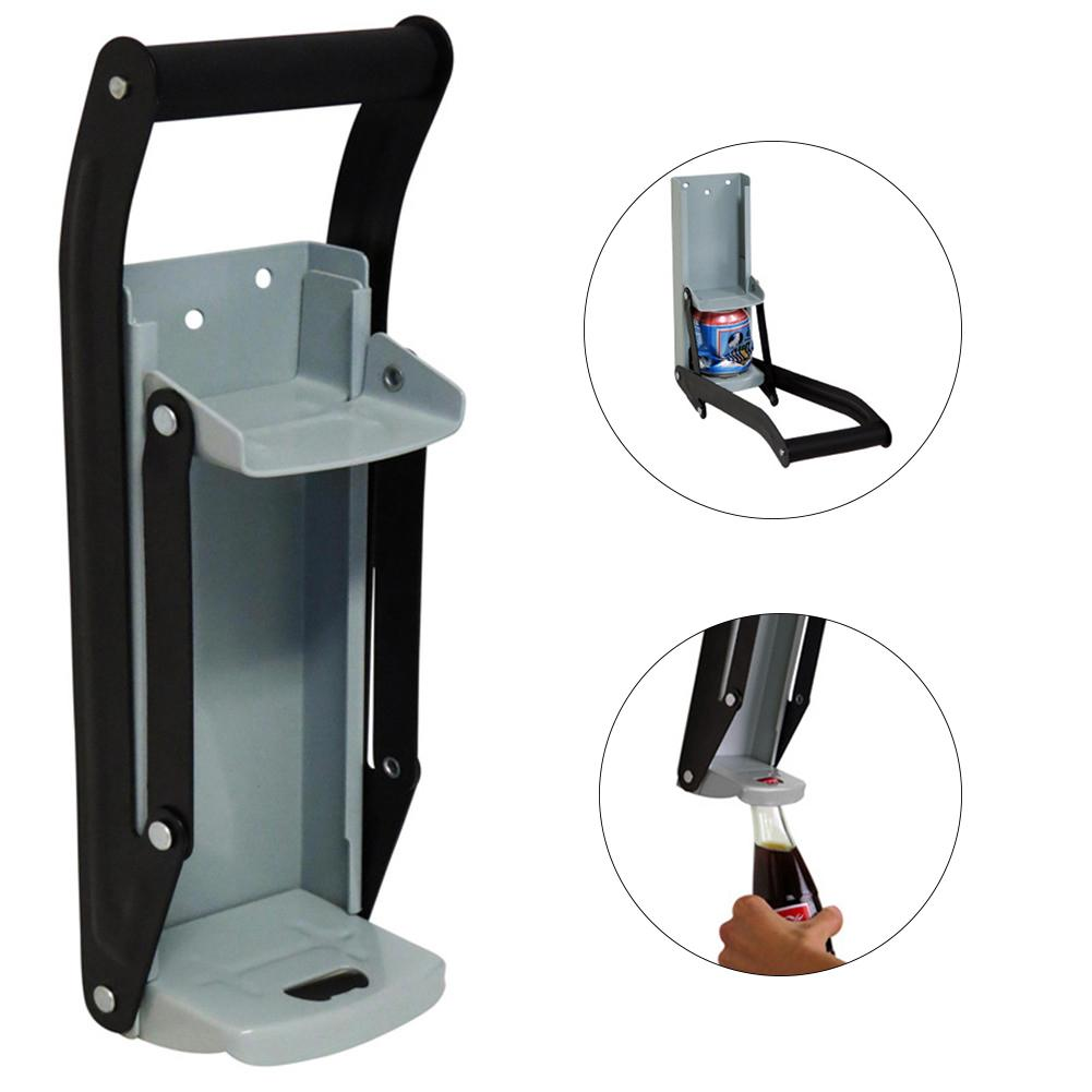 Aluminum Can Crusher & Bottle Opener Heavy Duty Metal Wall Mounted Soda Beer Smasher Eco-Friendly Recycling Tool