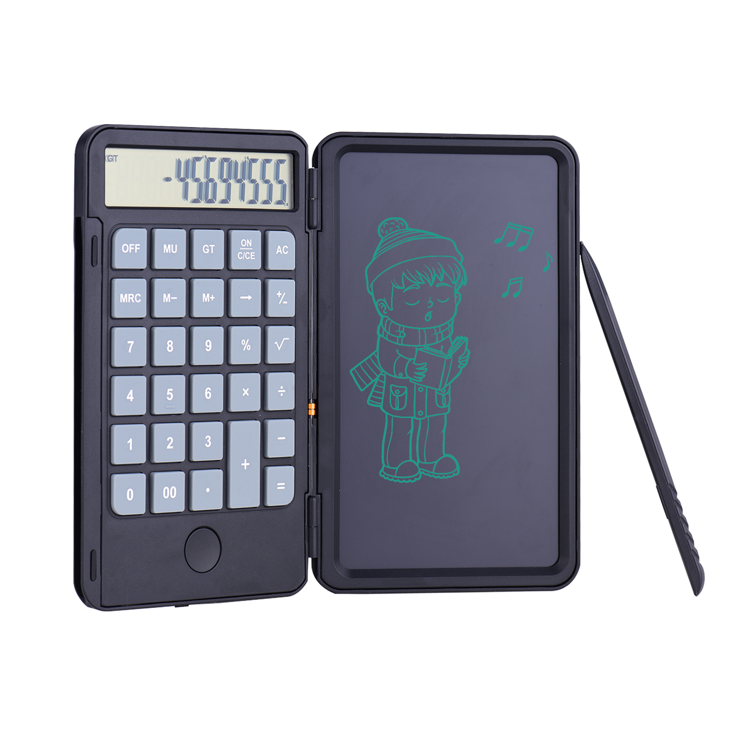 Aibecy Portable Calculator & LCD Writing Tablet Digital Drawing Pad 12 Digits Display with Stylus Pen Erase Button Lock Function