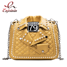 New Arrival Pearl Jacket Design Pu Leather Women Shoulder Bag Tote Bag Crossbody Bag Purses and Handbag Ladies Messenger Bag