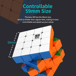 Image 3 - Moyu Aosu WR M Magnetic 4x4x4 magic cube 4x4 speed cube puzzle cubo magico Competition Cubes