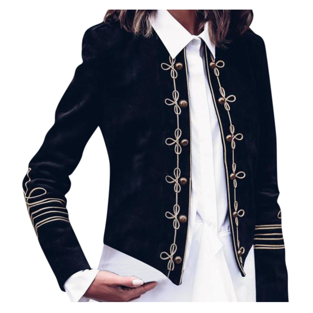 Women Ladies Fashion Retro Steampunk Gothic Military Coat Jacket Top Cardigan куртка женская зимняя пальто on AliExpress