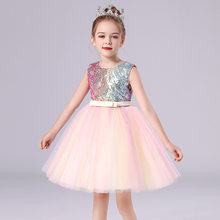 Girls' Summer Lace Tennis Dress Piano Princess Dress Children's Costume Children's Day Costume