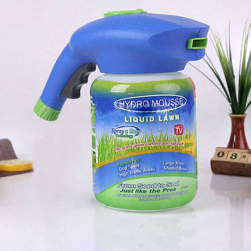Quick Liquid Lawn Seed Sprinkler System Grass Seed Sprayer Plastic Watering Can Fast Easy Sprayers Ink Drop Shipping