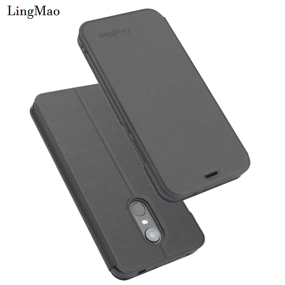 Flip-Cover brieftasche Fall für Globale Version Original Xiaomi Redmi 4X3 GB <font><b>32GB</b></font> <font><b>Smartphone</b></font> Snapdragon 435 Octa core Fingerprint Haut image