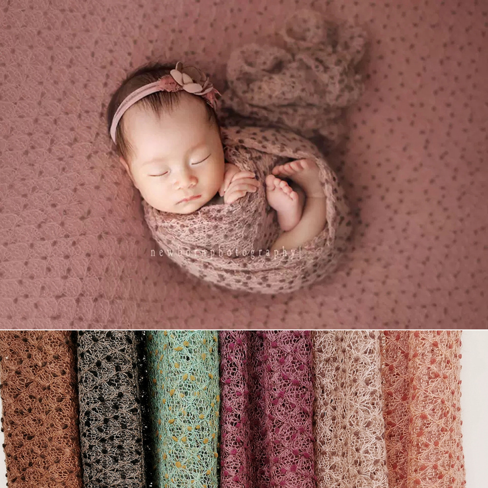 Newborn Photography Props Accessories Baby Photography Wrap Newborn Shooting Background Blanket Baby Photo Props Infant Wraps