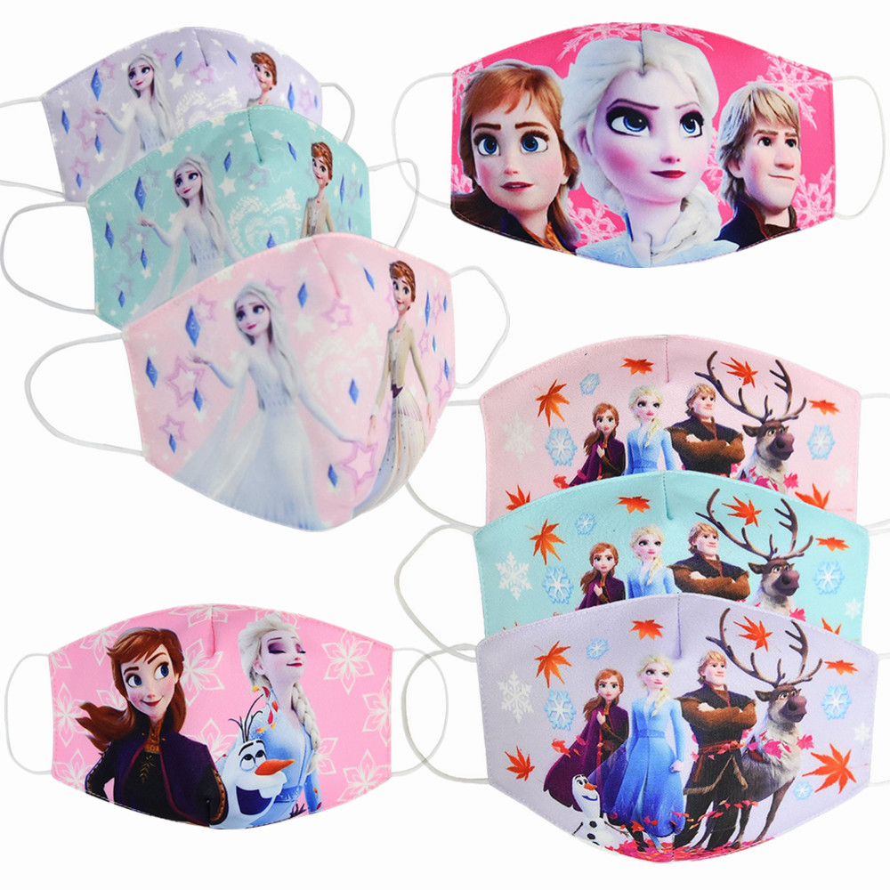 Cartoon Dust Fashion Face Mask Adult Kids Dust Respirator Washable Reusable Masks Anna Elsa Princess Anime Cosplay Mouth Muffle