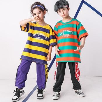 Kids Hip Hop Shirt Pants Ballroom Dancing Costumes for Girls Boys Jazz Dance Costumes Show Stage Wear Outfits Child Dancewear 1