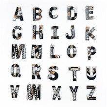 Patch de strass avec lettres de l'alphabet anglais, appliquer en 3D, Badge pâte pour vêtements, sacs