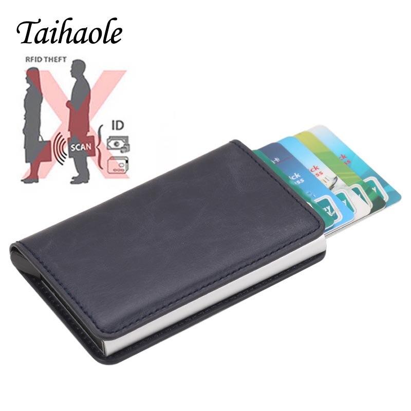 Taihaole 2020 мужские держатели для кредитных карт, чехол для визиток, модный автоматический держатель для кредитных карт RFID, алюминиевые кошельк...