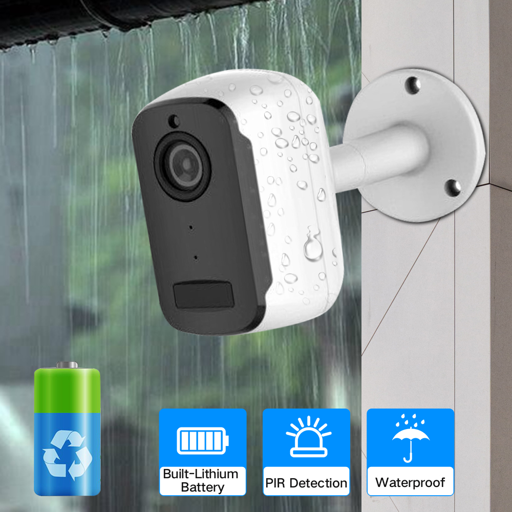 SDETER 1080P Wireless Rechargeable Battery IP Camera Wifi Outdoor Indoor Weatherproof CCTV Security Camera Wide View IP65 P2P-in Surveillance Cameras from Security & Protection