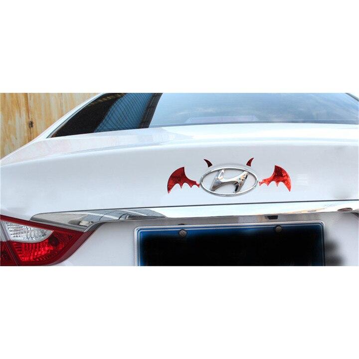 Bat Wings 3D Car Stickers Car Decoration Stickers Auto Accessories PVC Vehicle Label Scratch Stick Personality Decoration