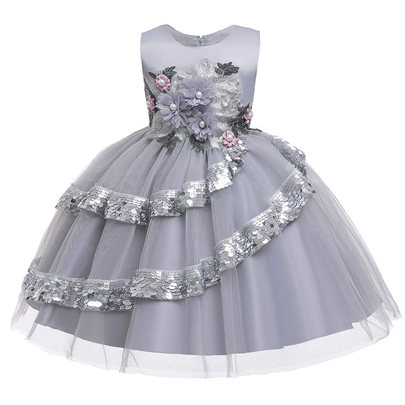 Flowers Wedding Clothes Girl Dress First Communion Dresses Kids Ball Gown Children Clothing Baby Costume Vestido Comunion