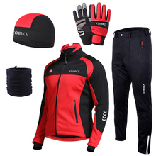 Cycling-Jacket-Set Bike-Clothing Windbreaker Thermal Fleece Waterproof Mtb Road Motorcycle