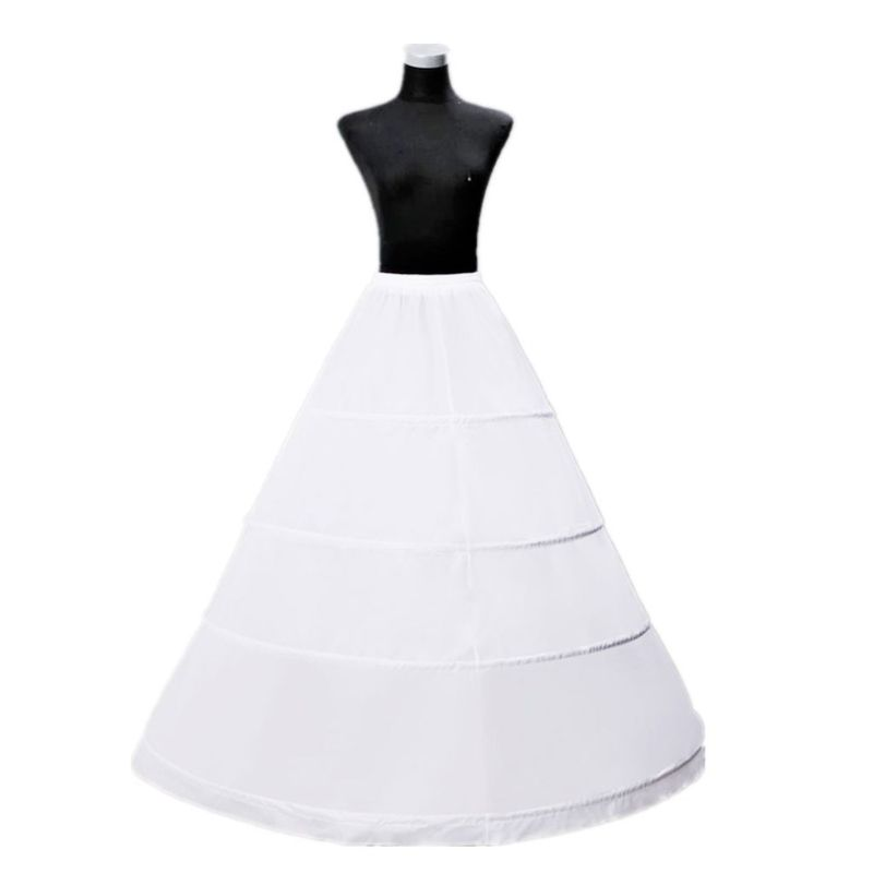 Bride Wedding Dress Hoops Skirt Support Lady Girls Party Prom Ball Dress Inner Substrate Petticoat Long Underskirt