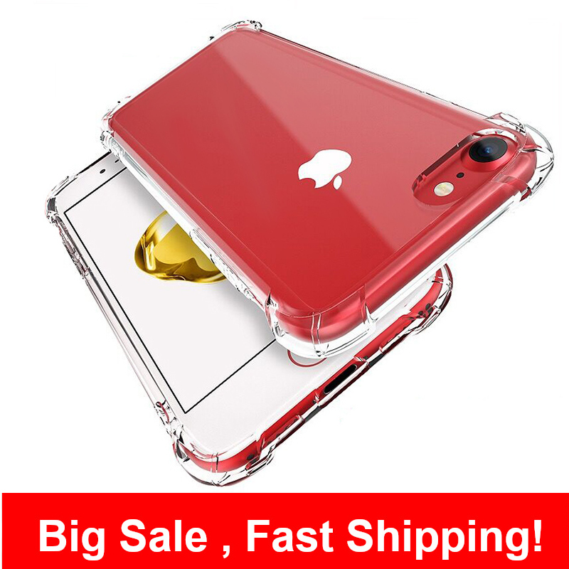 Phone Case For IPhone 6 7 8 Plus X XR XS 11 Pro Max Silicone Shockproof Case Transparent Protection Back Cover Funda 6s 11 Coque