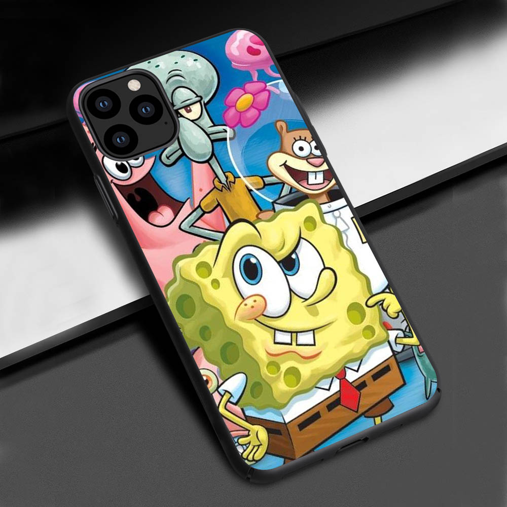 Funda for Case iPhone 11 SpongeBob cover for Case iPhone XS Max XR Phone Case for iPhone 6 7 8 Plus SE 11 Pro Max X 5S SE 6 CASE