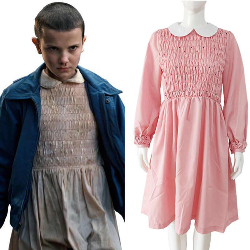 Stranger Dingen Cosplay Kostuum Meisjes Elf Millie Bobby Brown Kostuums Volwassen Vrouwen Volledige Sets Halloween Carnaval Kostuum