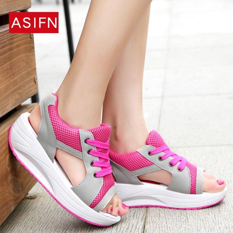 Mesh Breathable Open Toe Women Sandals Summer Sneakers Casual Shoes Woman Ladies Platform Wedges Sandals Sandalias Innrech Market.com