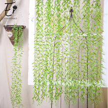 Erxiaobao 6 Pieces/Lot 102cm Artificial Plants Hanging Willow Leaves Fake Flower Vine Grass Home Decoration Accessories