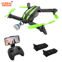 Global Drone GW68 Mini Drone X Pro Drones with Camera HD Altitude Hold RC Helicopter Foldable Quadrocopter WIFI FPV Dron VS E58(China)