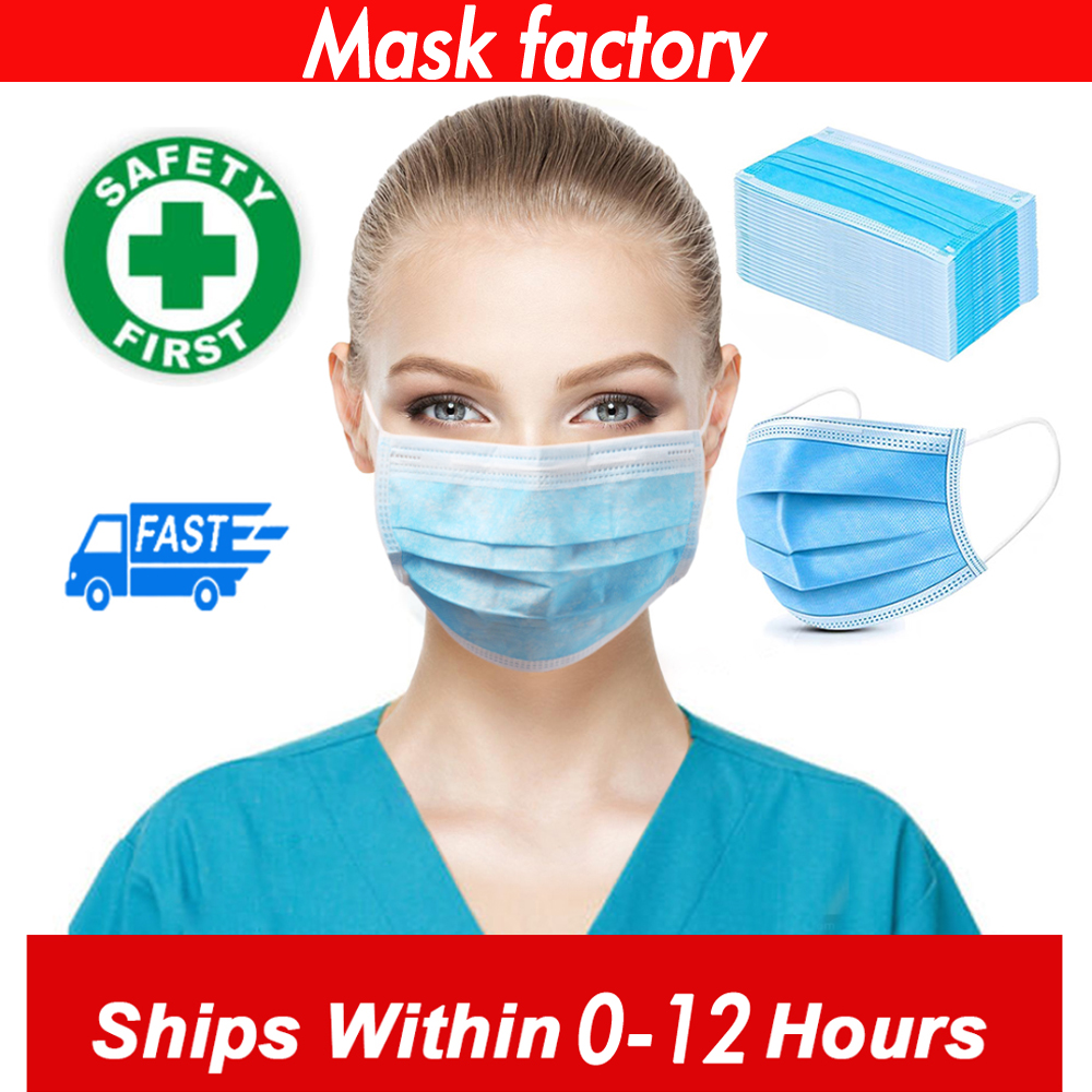 3 Laye Mask Dust Protection Masks Disposable Face Masks Elastic Ear Loop Disposable Dust Filter Safety Mask Anti-Dust
