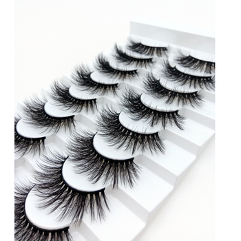 8 Pairs 3D Mink Lashes Natural/Thick Long Eyelashes Wispy Makeup Beauty Extension Tools image
