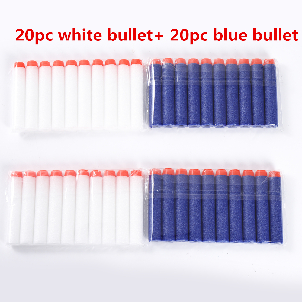 40pc For Nerf Bullets Soft Hollow Hole Head 7.2cm Refill Darts Toy Gun Bullets For Nerf Series Blasters Xmas Kid Children Gift