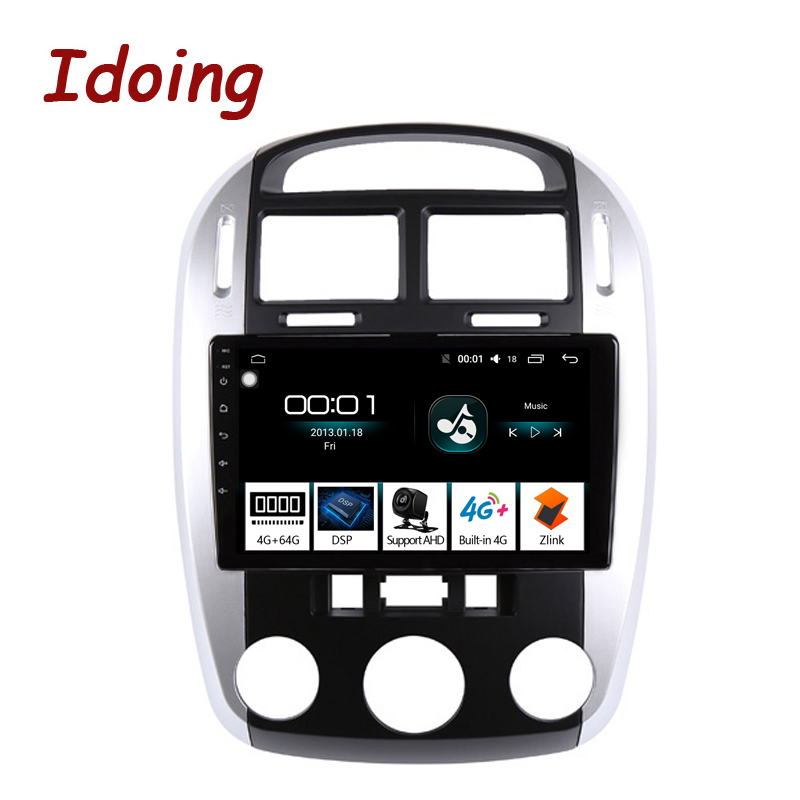 Idoing 10.24G+64G Android Car Radio Multimedia Player Navigation GPS For KIA Cerato 1 2004-2008 DSP Audio player NO 2din DVD image