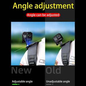 Image 5 - for Go Pro Accessories 360 Degree Rotation backpack bag Clip clamp For GoPro Hero 9 8 7 6 5 4 Xiaomi yi for SJCAM SJ4000 Phone