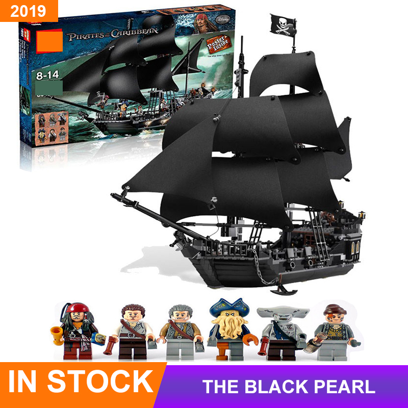 Pirates Of The Caribbean The Black Pearl Building Block Bricks ship With figures Toys For Kids Compatible legoingLYS movie 4184