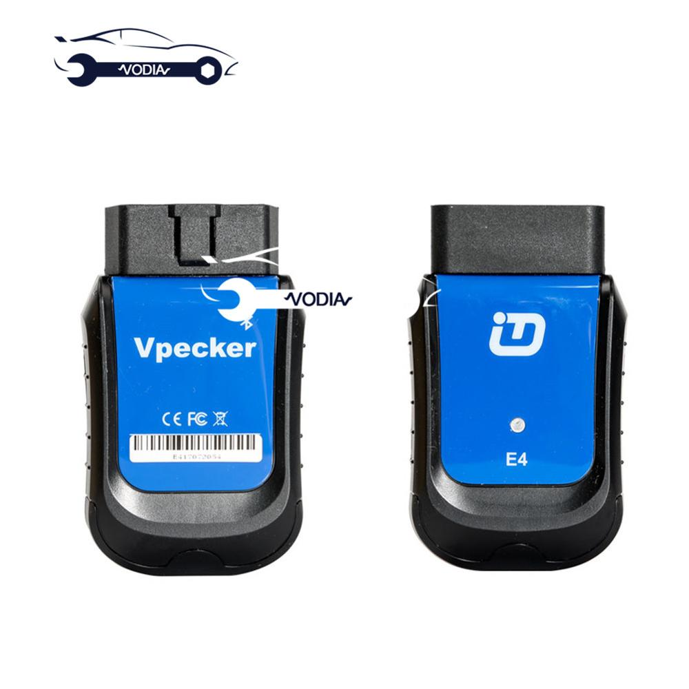 VPECKER E4 Full System OBD2 Scan Tool Android Support for Resetting Coding ABS Bleeding/Battery/DPF/EPB/Injector/Oil Car Diagnostic Cables & Connectors    - AliExpress