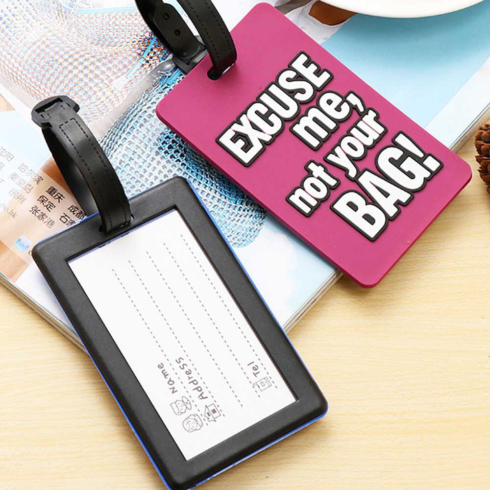 """Kreative Warnung zeichen """"Nicht Ihre Tasche"""" Englisch buchstaben Gepäck Tags Silica Gel Koffer ID Adresse Halter Gepäck Label internat Tag"""