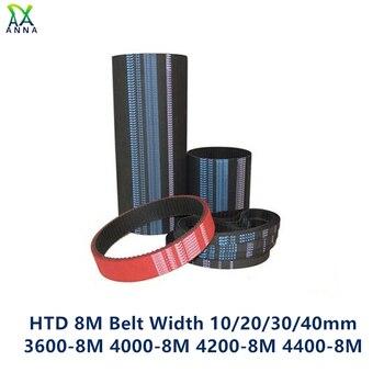 HTD 8M synchronous Timing belt C=3600/4000/4200/4400 width 10/20/30/40mm Teeth 450 500 525 550 HTD8M 3600-8M 4000-8M 4400-8M