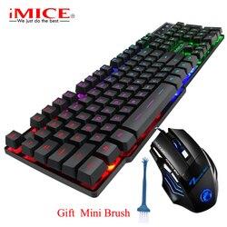 Teclado RGB con retroiluminación para videojuegos, teclado impermeable con USB 104 para jugadores, componentes de ordenador