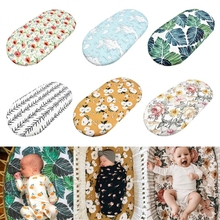 Baby Moses Basket Sheet Printing Mini Cradle Bedding Protector Crib Care Changing Table Pad Mattress Removable Cover