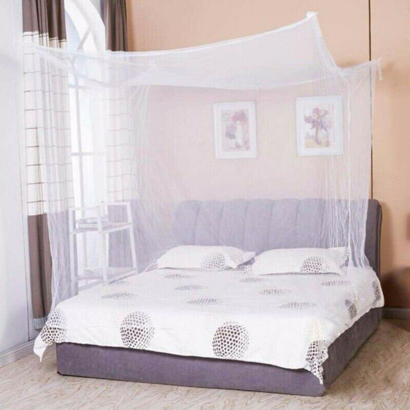1pcs Moustiquaire Canopy White Four Corner Post Student Canopy Bed Mosquito Net Netting Queen King Twin Size