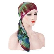 Hat Women Summer New Soft Ruffle Head Scarf Chemo Turban  Bandana Sun Cappello Donna Czapka