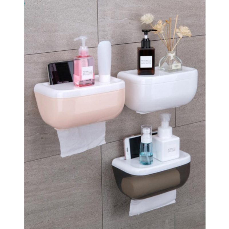 2020 New 3 Colors Toilet Paper Roll Holder Bathroom Tissue Box Dispenser Waterproof Easy Install