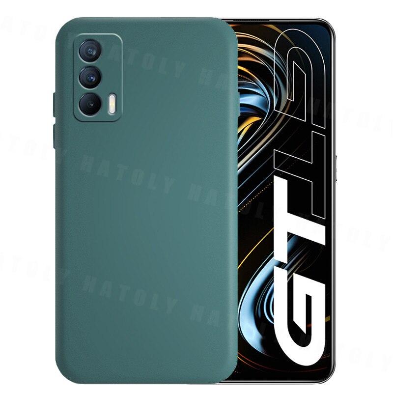 Чехол для Realme GT 5G чехол для Realme GT 5G противоударный Оригинальный жидкий Силиконовый ТПУ защитный бампер для телефона Realme GT 5G
