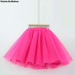 Зимняя юбка-пачка для женщин и девочек, многослойная плиссированная розовая юбка-пачка большого размера Jupe Femme Faldas Rokken, тюлевые юбки на заказ