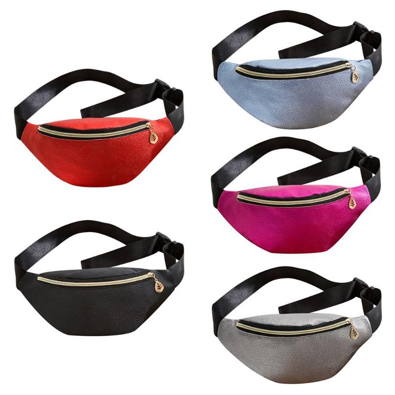 Fashion Women Hobos Shoulder Bag PU Leather Waist Bags Fanny Chest Packs