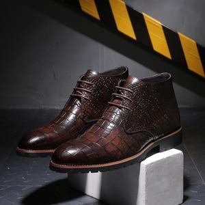 Image 5 - Mens Boots Leather Men Big Size38 48 Lace Up Cowboy Boots Man Shoes Male Water Proof Boots New Platform Shoes Botines Hombre
