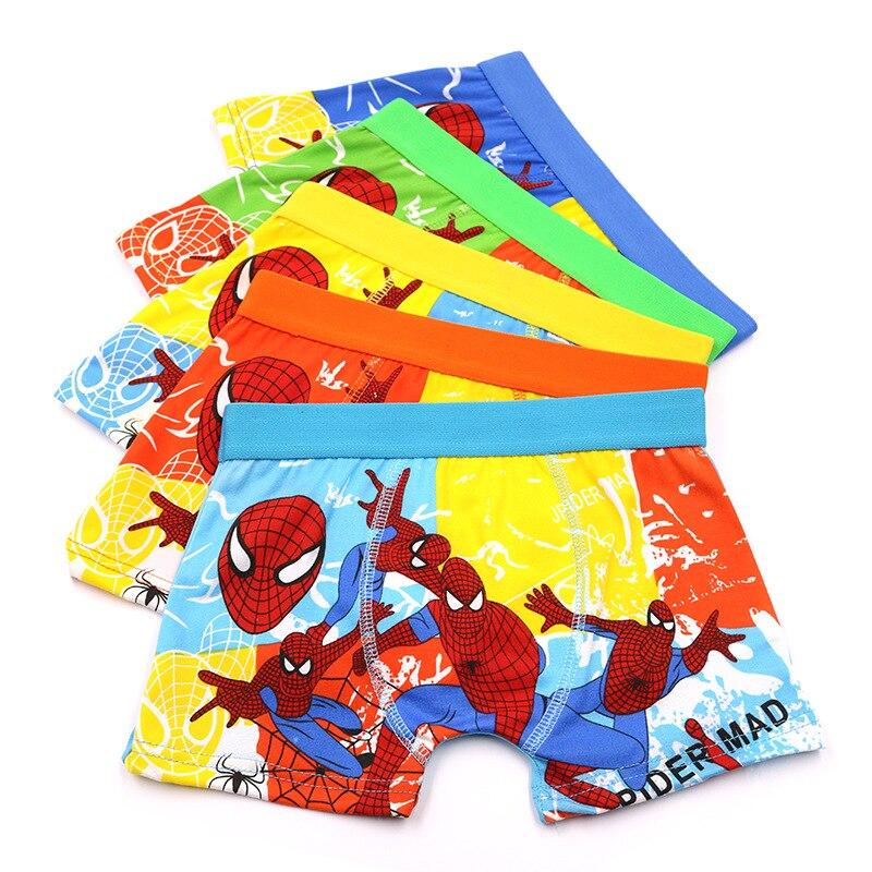 1 Pcs/lot Children's Underwear Boxer Boy Child Underpants Cartoon Cotton Avenger Alliance Baby Boy Underpant Superman Panties