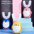 Smart U Shape Electric Toothbrush 360 Degrees Kids Sonic Music Silicon Cartoon Pattern Sterilization Kids Tooth Brush 2-6
