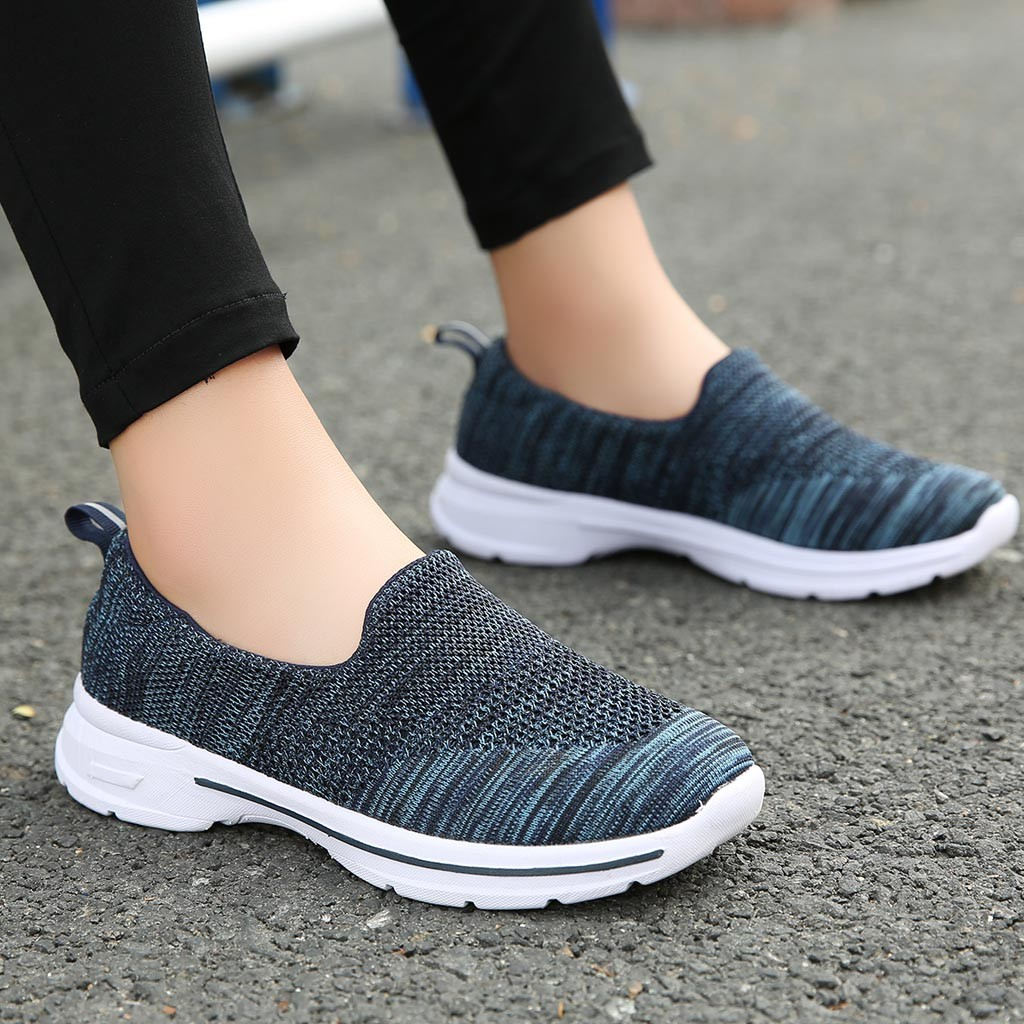 New Women's Vulcanize Shoes Sneakers Mesh Solid Non-Slip Pumps Shoe Sneakers Casual Shoes Student Running Shoes Deportivas Mujer