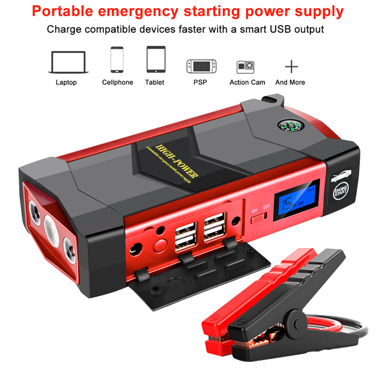 Charger Car-Battery-Booster Jump-Starter Emergency-Starting-Power-Bank-Tool-Kit Portable