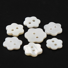 natural white mother of pearl shell handmade 26mm carven flower pendant 18 long Free shipping 6 petal flower shell shirt Buttons 2-Holes Mother of Pearl shell sewing button for DIY craft,dress,shirt,cloth